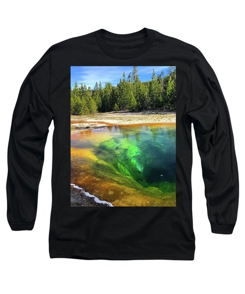 Morning Glory Pool Long Sleeve T-Shirt