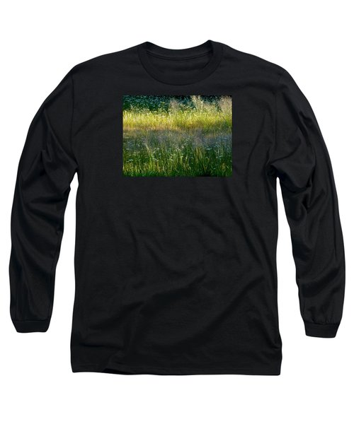 Morning Light On Grant Meadow Long Sleeve T-Shirt by Amelia Racca