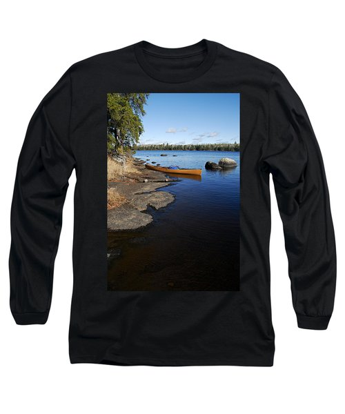 Morning On Hope Lake Long Sleeve T-Shirt by Larry Ricker