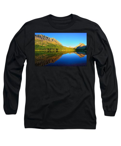 Long Sleeve T-Shirt featuring the photograph Morning Reflections At Fishercap Lake by Greg Norrell