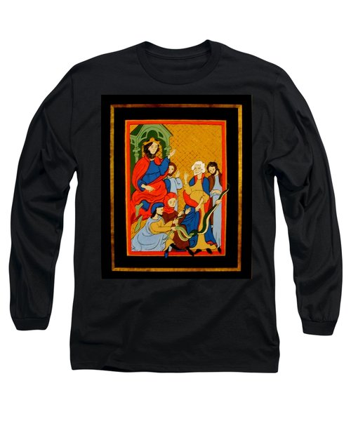 Long Sleeve T-Shirt featuring the painting Moses And Pharaoh by Stephanie Moore