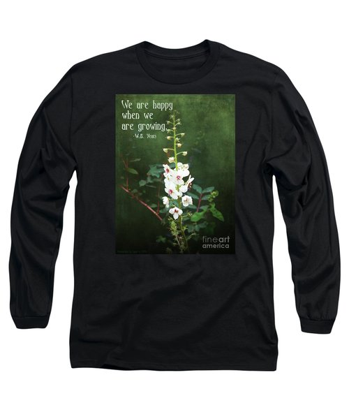 Long Sleeve T-Shirt featuring the photograph Moth Mullein by Gena Weiser