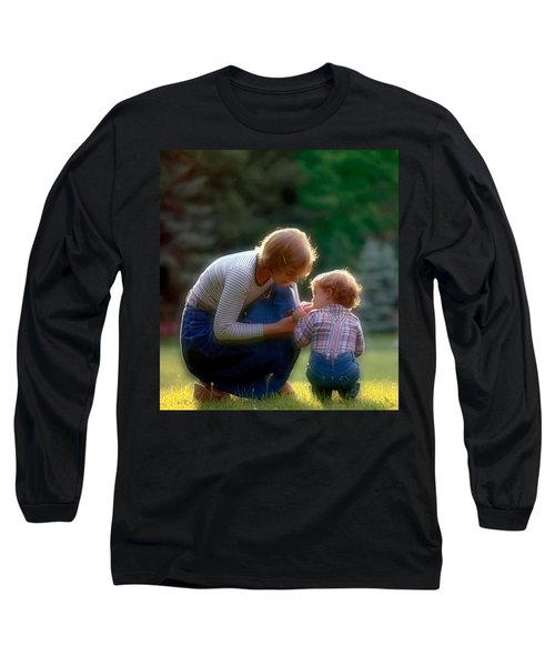 Mother With Kid Long Sleeve T-Shirt