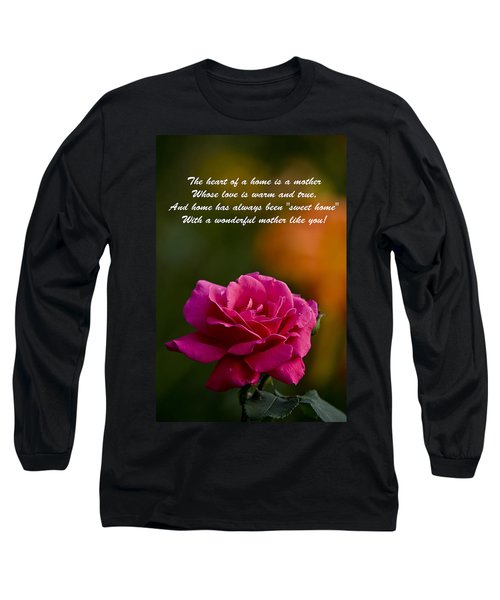 Long Sleeve T-Shirt featuring the photograph Mother's Day Card 2 by Michael Cummings