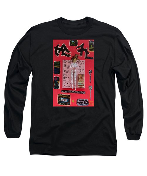 Long Sleeve T-Shirt featuring the painting Motherwort Herbal Tincture by Clarity Artists