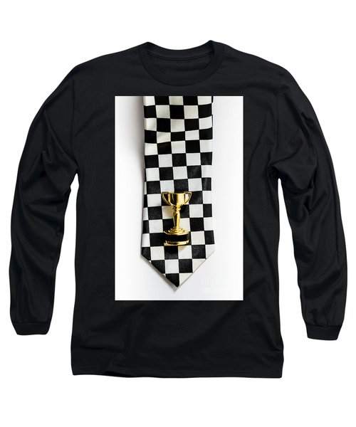 Motor Sport Racing Tie And Trophy Long Sleeve T-Shirt