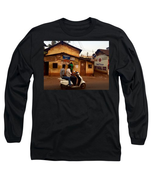 Motorbike Crossing Goa Times Newstand Long Sleeve T-Shirt