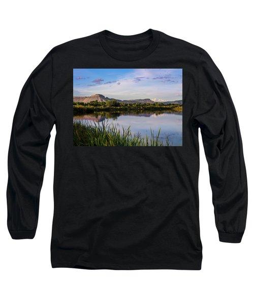 Mount Garfield In The Evening Light Long Sleeve T-Shirt