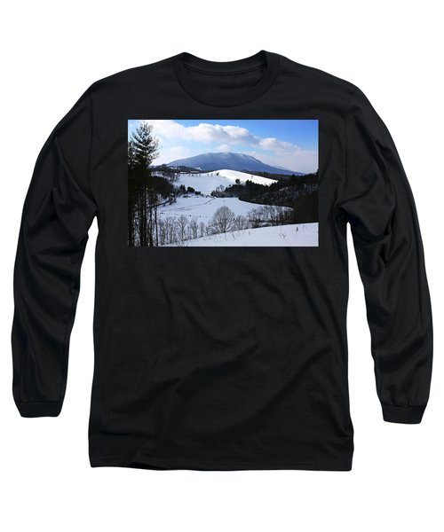 Mount Jefferson Winter Long Sleeve T-Shirt by Dale R Carlson