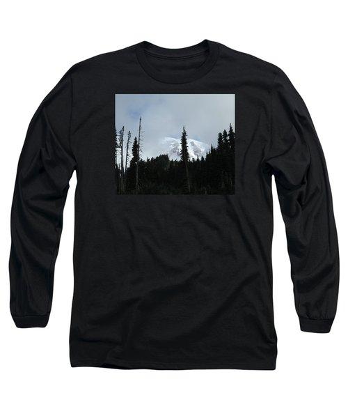 Mount Rainier Long Sleeve T-Shirt by Tony Mathews