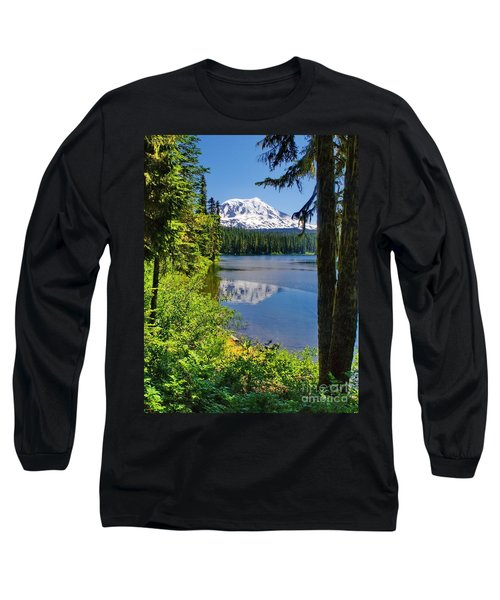 Mountain Lake Reflections Long Sleeve T-Shirt