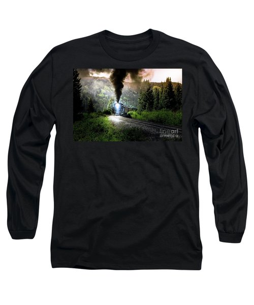 Mountain Railway - Morning Whistle Long Sleeve T-Shirt by Robert Frederick