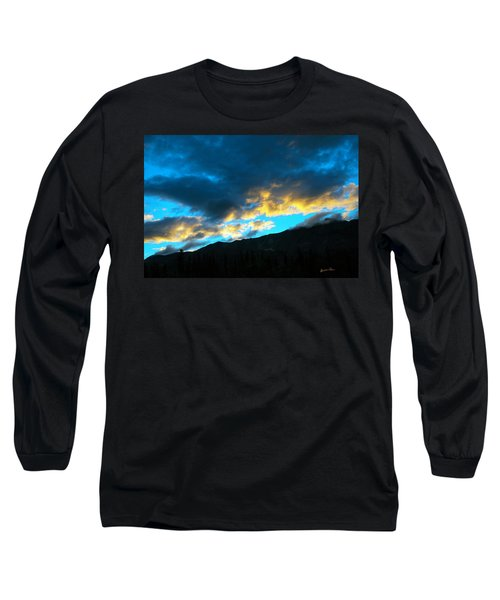 Long Sleeve T-Shirt featuring the photograph Mountain Silhouette by Madeline Ellis