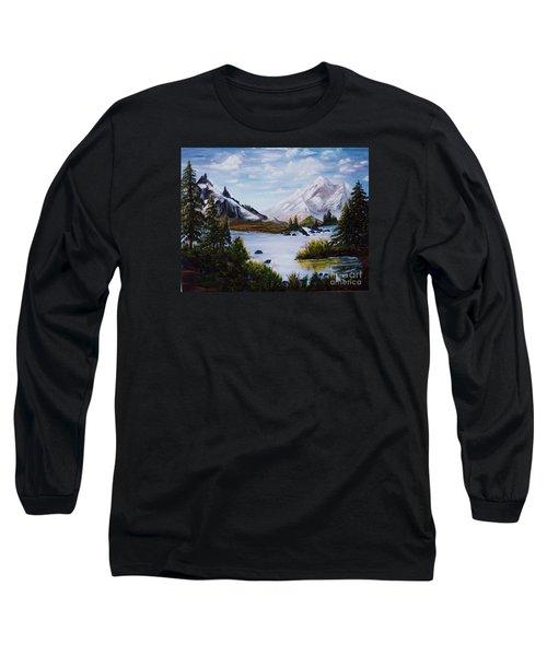 Mountain Splendor Long Sleeve T-Shirt by Myrna Walsh