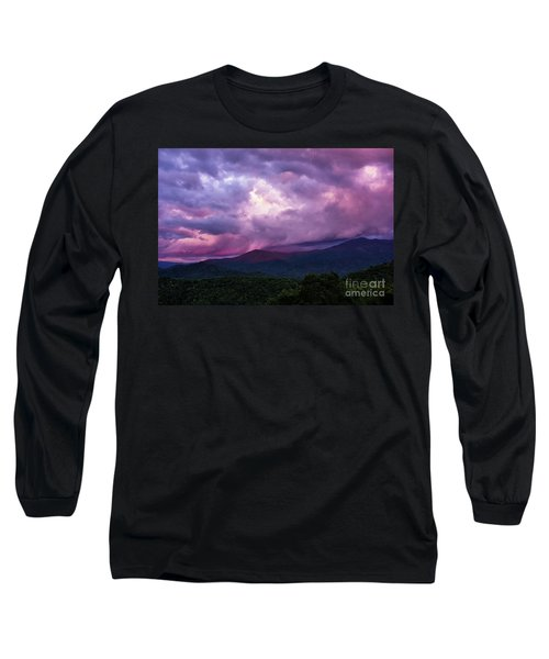 Mountain Sunset In The East Long Sleeve T-Shirt