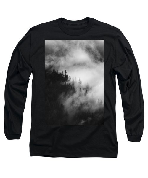 Mountain Whispers Long Sleeve T-Shirt by Mike  Dawson