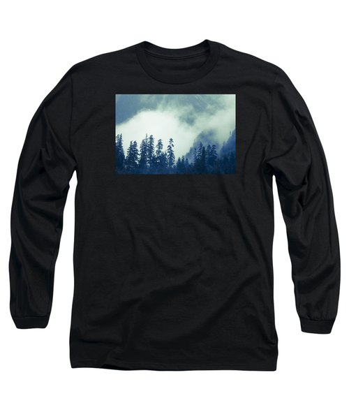 Mountains And Fog Long Sleeve T-Shirt by Michele Cornelius