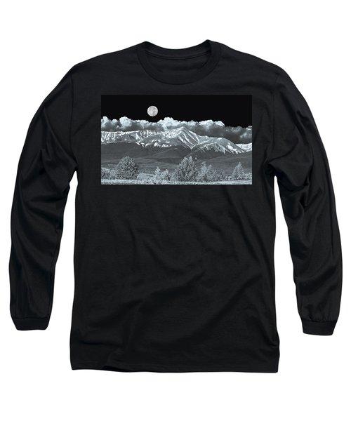 Mountains, When High Enough And Tough Enough, Measure Men.  Long Sleeve T-Shirt by Bijan Pirnia