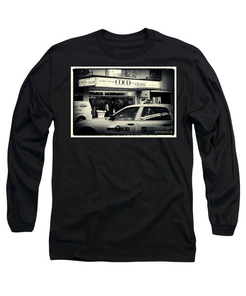 Movie Theatre Paris In New York City Long Sleeve T-Shirt