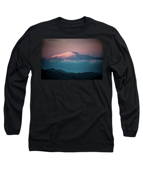 Mt. Etna II Long Sleeve T-Shirt by Patrick Boening