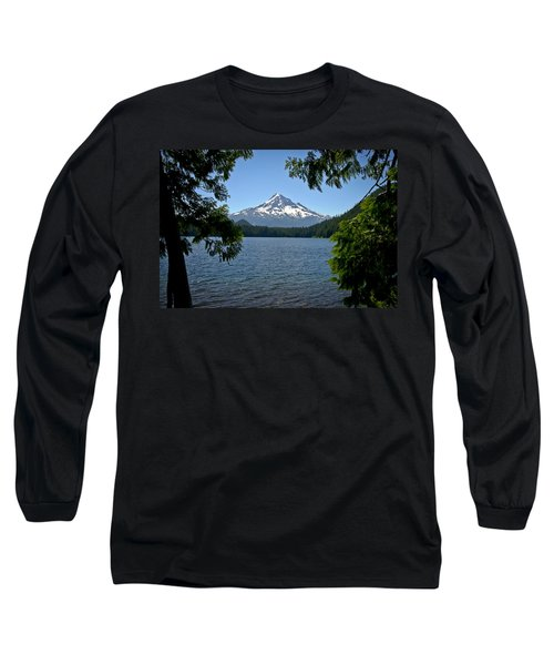 Mt Hood Over Lost Lake Long Sleeve T-Shirt