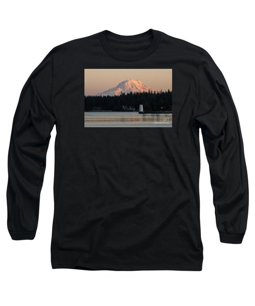 Mt Rainier Alpine Glow I Long Sleeve T-Shirt