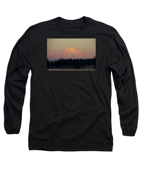 Mt Rainier Alpine Glow II Long Sleeve T-Shirt by Chuck Flewelling