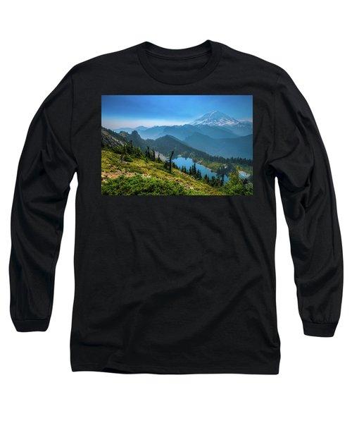 Mt. Rainier And Eunice Lake Long Sleeve T-Shirt