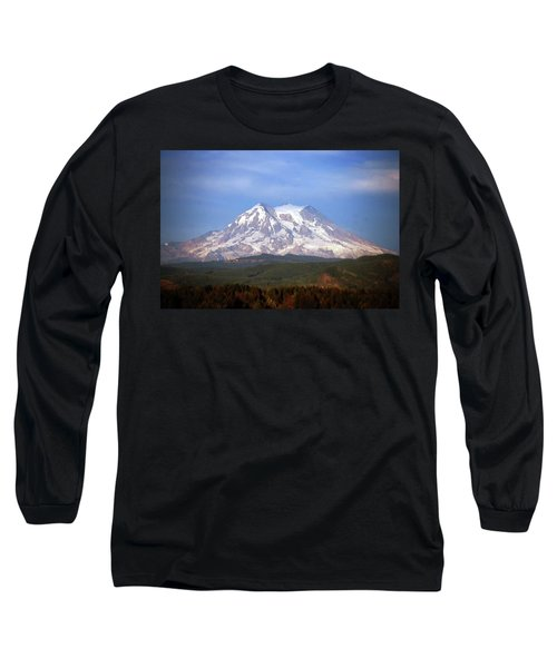 Mt. Rainier Long Sleeve T-Shirt by Sumoflam Photography