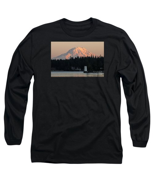 Mt. Rainier Sunset Glow Long Sleeve T-Shirt