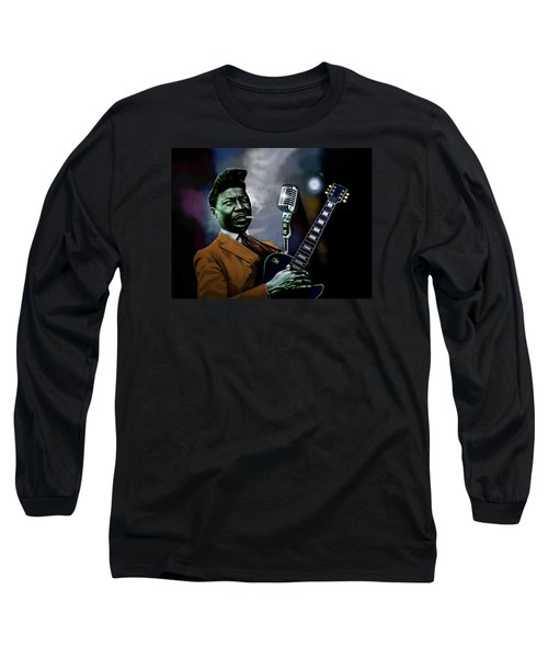 Muddy Waters - Mick Jagger's Grandfather Long Sleeve T-Shirt by Dan Haraga