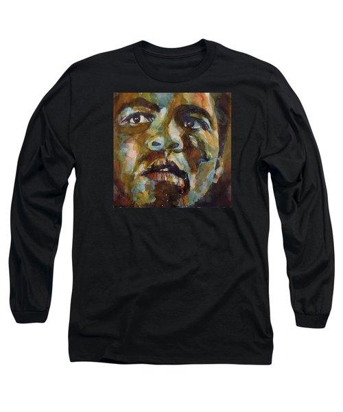 Muhammad Ali   Long Sleeve T-Shirt by Paul Lovering