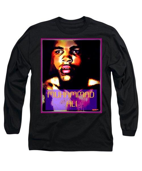 Muhammad Ali V Long Sleeve T-Shirt by Peter Gumaer Ogden