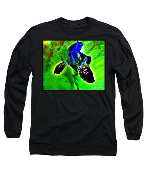 Long Sleeve T-Shirt featuring the photograph Multicolor Iris by Marsha Heiken