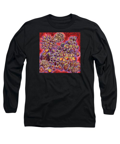 Multiply Microbiology Landscapes Series Long Sleeve T-Shirt by Emily McLaughlin