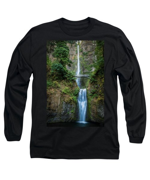 Long Sleeve T-Shirt featuring the photograph Multnomah Falls by Chris McKenna