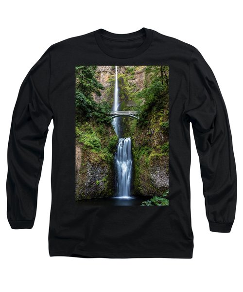 Long Sleeve T-Shirt featuring the photograph Multnomah Falls by Pierre Leclerc Photography