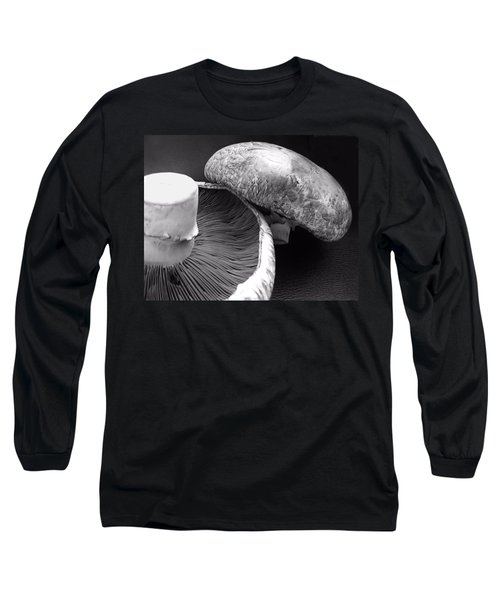 Mushrooms In Black And White Long Sleeve T-Shirt