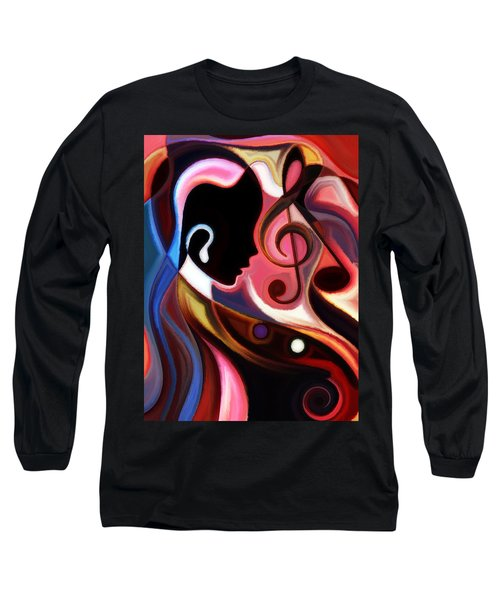 Music In The Air Long Sleeve T-Shirt by Karen Showell