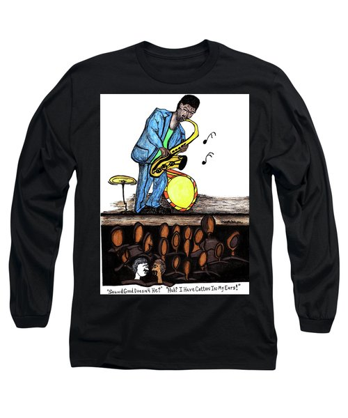 Music Man Cartoon Long Sleeve T-Shirt