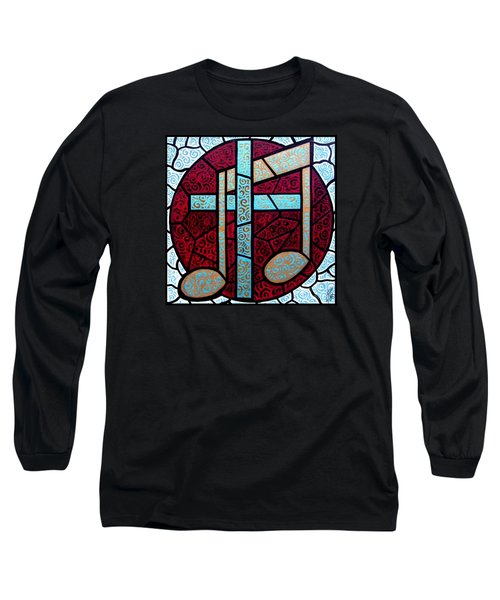 Long Sleeve T-Shirt featuring the painting Music Of The Cross by Jim Harris