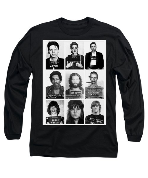 Musical Mug Shots Three Legends Very Large Original Photo 9 Long Sleeve T-Shirt