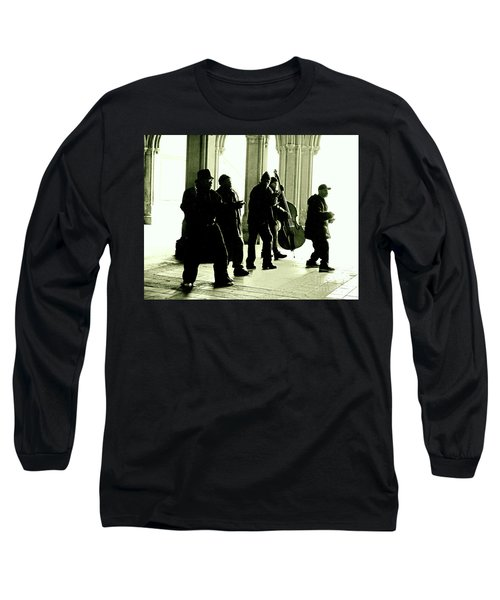 Long Sleeve T-Shirt featuring the photograph Musicians In The Park by Sandy Moulder