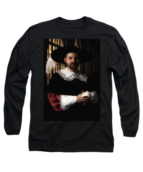 Musketeer In The Old Castle Hall Long Sleeve T-Shirt