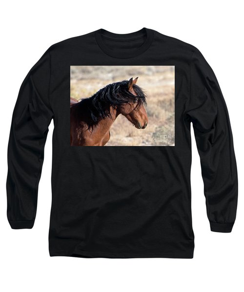 Long Sleeve T-Shirt featuring the photograph Mustang by Lula Adams