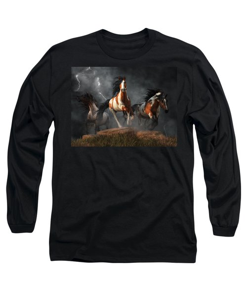 Mustangs Of The Storm Long Sleeve T-Shirt
