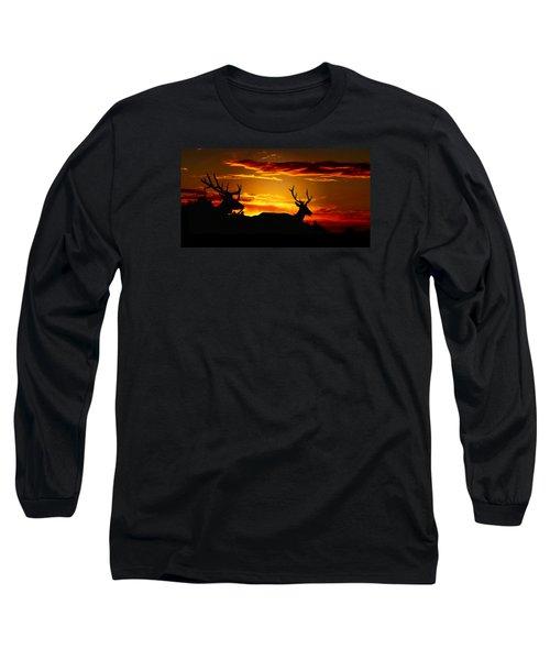Elk Sunset Long Sleeve T-Shirt