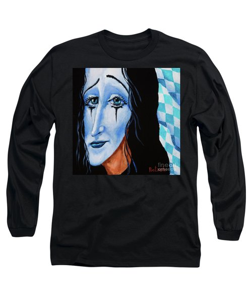 Long Sleeve T-Shirt featuring the painting My Dearest Friend Pierrot by Igor Postash