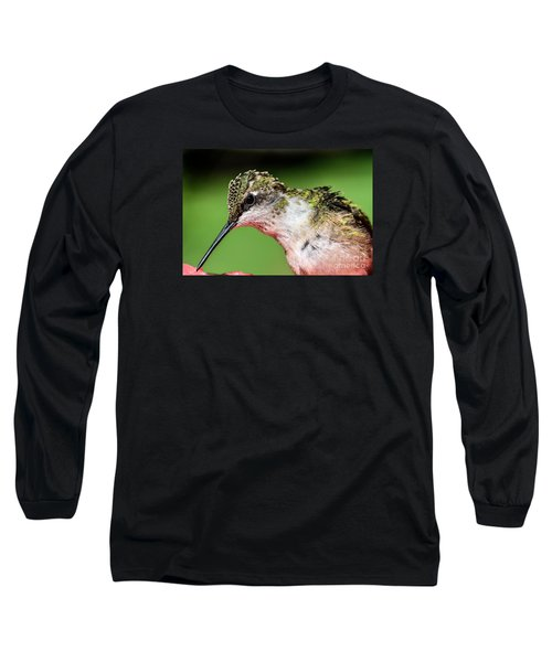 My Hummingbird Long Sleeve T-Shirt by Debbie Green