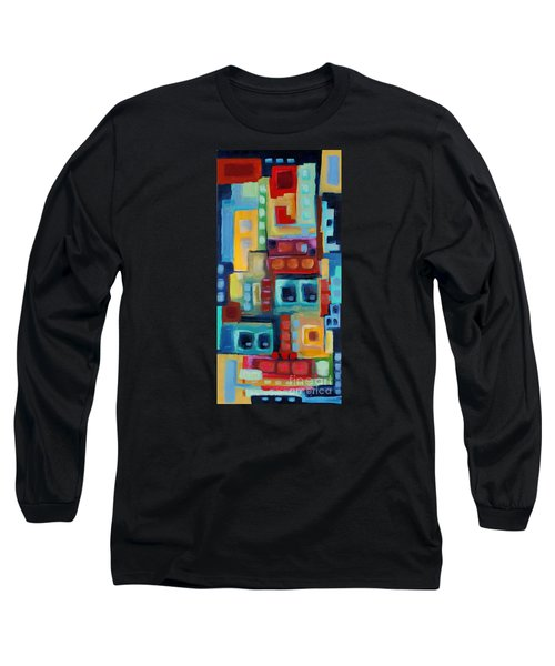 Long Sleeve T-Shirt featuring the painting My Jazz N Blues 3 by Holly Carmichael